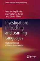 Investigations in Teaching and Learning Languages PDF