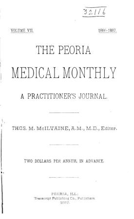 The Peoria Medical Monthly PDF