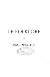 Le folklore au pays Wallon