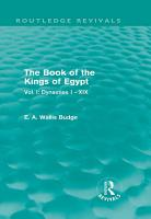 The Book of the Kings of Egypt  Routledge Revivals  PDF