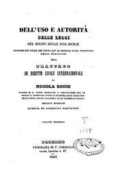 Dell'uso e autorita delle leggi del regno delle due Sicilie considerate nelle relazioni con le persone e col territorio degli stranieri ossia trattato di diritto civile internazionale: Volume 2