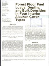 Forest floor fuel loads, depths and bulks densities in four interior Alaskan cover types