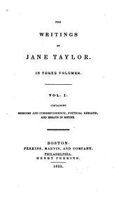 Memoirs and correspondence, [ed. by I. Taylor]. Poetical remains. Essays in rhyme