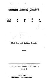 Friedrich Heinrich Jacobi's werke: Band 6