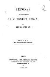 Réponse à un article critique de Ernest Renan Jules Oppert