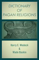 Dictionary of Pagan Religions PDF