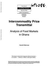Intercommodity price transmittal : analysis of food markets in Ghana