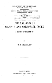 The analysis of silicate and carbonate rock: a revision of bulletin 305