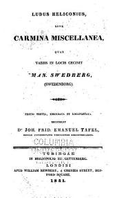 Ludus heliconius: sive carmina miscellanea