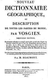 Nouveau dictionnaire géographique, ou Description de toutes les parties du monde