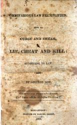 Omnifarious Law Exemplified How To Curse And Swear Lie Cheat And Kill According To Law Book PDF