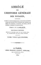 Abrégé de l'histoire générale des voyages: Volume24