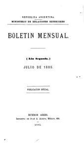 Boletín mensual ...: Publicación oficial, Volumen 2