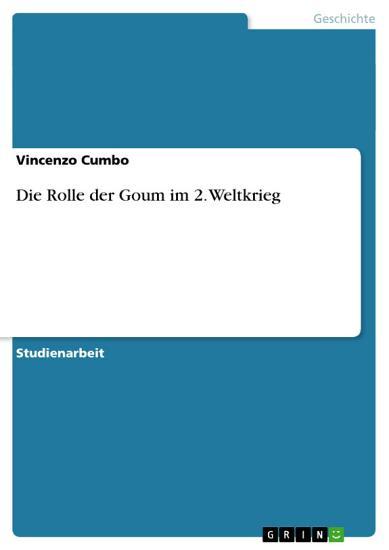 Die Rolle der Goum im 2  Weltkrieg PDF