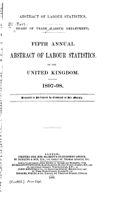 Abstract of Labour Statistics of the United Kingdom ...