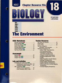 Holt Biology  The environment PDF