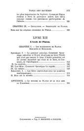 La philosophie de Platon: Esthetioue, morale et religion platoniciennes. 2. éd., rev. et augm. 1888