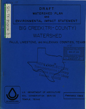 Big Creek  Tri County  Watershed Plan PDF