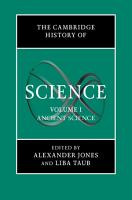 The Cambridge History of Science  Volume 1  Ancient Science PDF