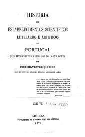 Historia dos estabelecimentos scientificos: Volumi 7-8