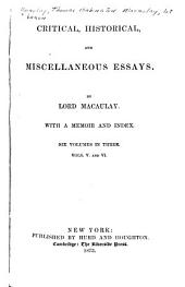 Critical, Historical, and Miscellaneous Essays: Volume 3