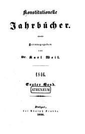 Konstitutionelle jahrbücher: Teil 1