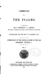 Commentary on the Psalms: Volume 1