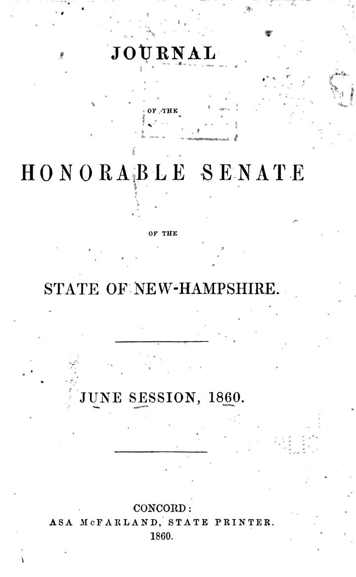 Journal of the Senate of New Hampshire