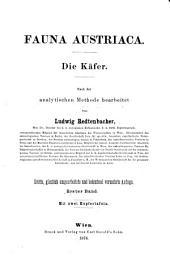 Fauna Austriaca: ¬Die Käfer : nach der analytischen Methode bearbeitet, Band 1
