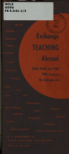 Exchange Teaching Abroad Under Public Law 584  79th Congress  the Fulbright Act PDF