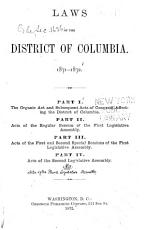 Laws of the District of Columbia  1871 1872 PDF