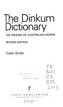 The Dinkum Dictionary PDF