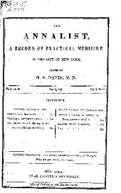 The Annalist: A Record of Practical Medicine, in the City of New York, Volume 3