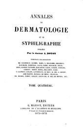 Annales de dermatologie et de syphiligraphie: Volume4
