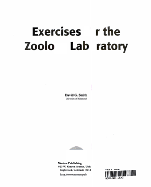 Exercises for the Zoology Laboratory PDF