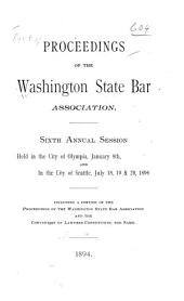 Report of Proceedings of the Annual Convention - Washington State Bar Association: Volume 6