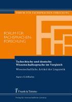 Tschechische und deutsche Wissenschaftssprache im Vergleich PDF