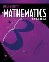 Basic College Mathematics  A Text Workbook PDF