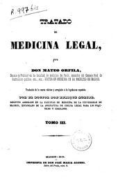 Tratado de medicina legal: Volumen 3