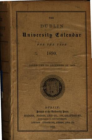 The Dublin University Calendar PDF