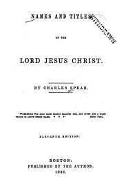 Names and Titles of the Lord Jesus Christ