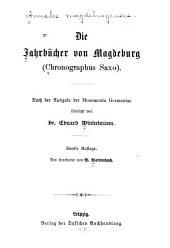 Die Jahrbücher von Magdeburg: (Chronographus Saxo)