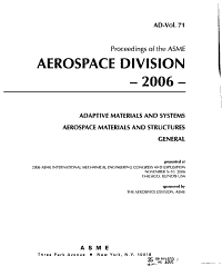 Proceedings of the ASME Aerospace Division PDF