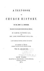 A Text-book of Church History: Volume 2
