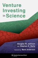 Venture Investing in Science PDF