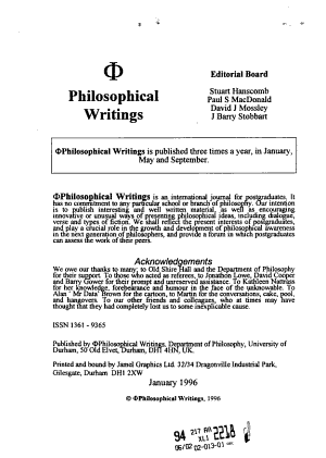 Philosophical Writings PDF