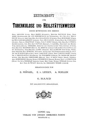 Zeitschrift f  r Tuberkulose und Heilst  ttenwesen PDF