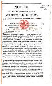 Notice sur l'édition princeps du recueil des Œuvres de Cicéron, et sur A. Minutianus auteur de cette édition