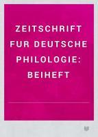 Zeitschrift f  r deutsche Philologie PDF