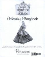 Barbie Princess Charm School Colouring Storybook PDF